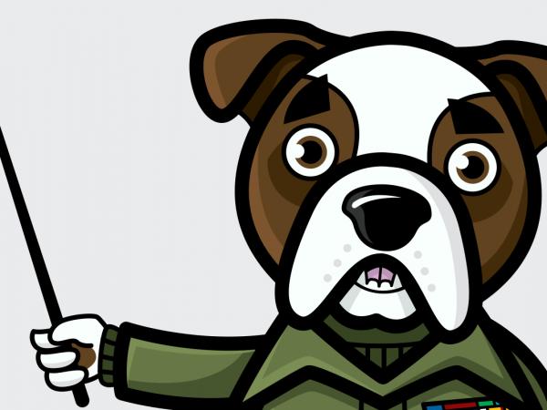 <span>Bulldog Mascot</span><i>→</i>