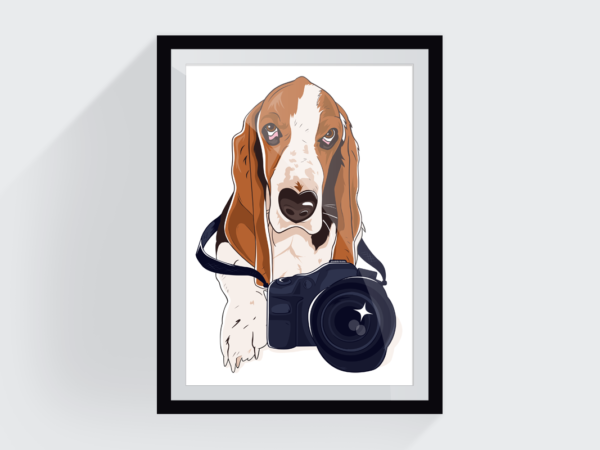 <span>Canine photography logo illustration</span><i>→</i>