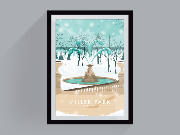 <span>Miller park in winter</span><i>→</i>